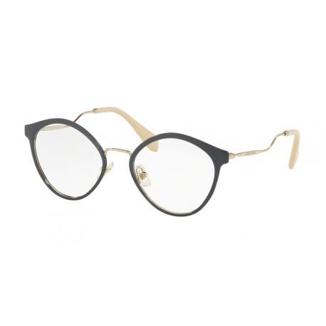 81e69f4fc0da Luxury Eyeglasses Miu Miu | MU 52QV - SSI1O1 | Frame: blue glitter ...