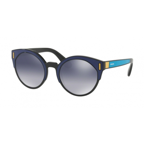 Prada PR 03US SUI3A0 | Frame: black, blue, yellow | Lenses: light grey gradient blue