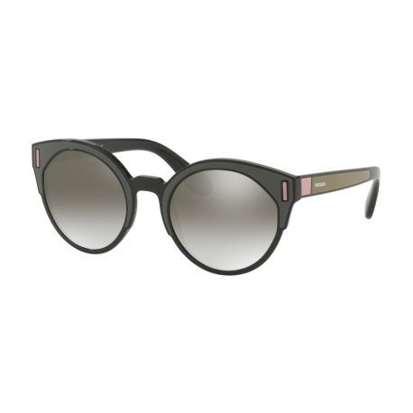 Prada PR 03US SVK5O0 | Frame: black, brown, pink | Lenses: grey silver mirror