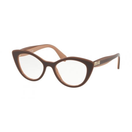 Miu Miu MU 01RV U451O1 | Frame: light brown transparent brown