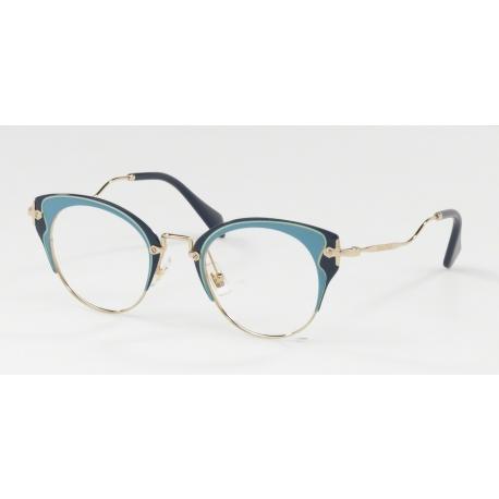 Eyeglasses Miu Miu | MU 52PV - U661O1 | Frame: pale gold, azure ...