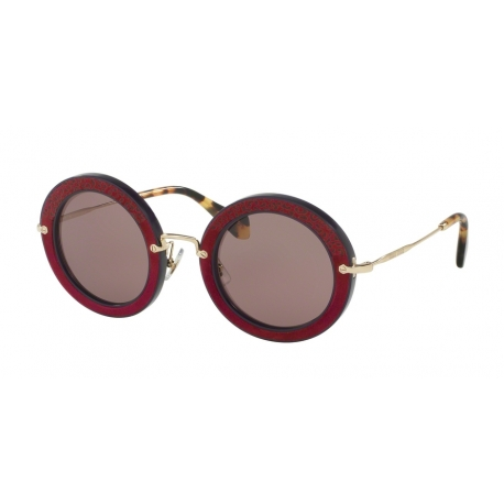 Miu Miu MU 08RS U6A6X1 | Frame: dark violet | Lenses: purple brown