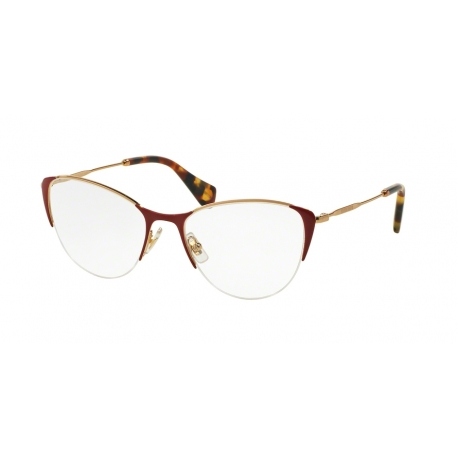 Miu Miu MU 50OV Noir UA41O1 | Frame: antique gold, red