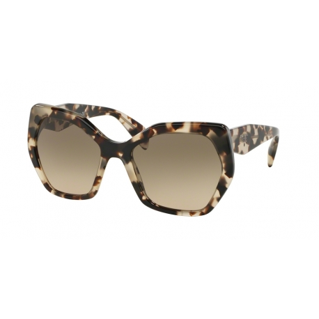 Prada PR 16RSF UAO3D0 | Frame: spotted opal brown | Lenses: light brown gradient light grey