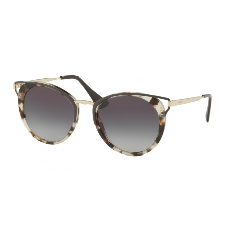 Prada PR 66TSF UAO5D1 | Frame: spotted opal brown | Lenses: grey gradient