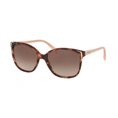 Prada PR 01OS UE00A6 | Frame: spotted brown pink | Lenses: brown gradient