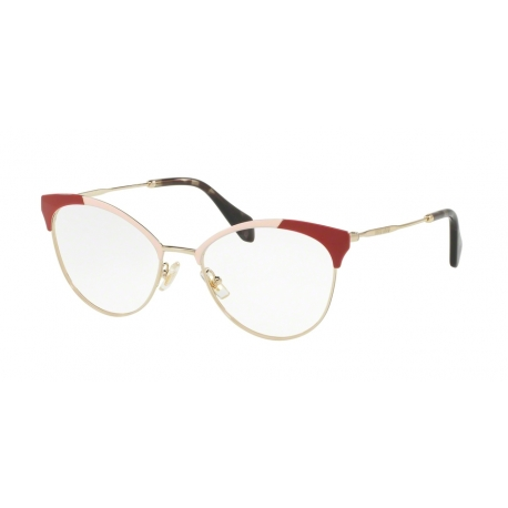 Miu Miu MU 50PV USP1O1 | Frame: pale gold, powder, red