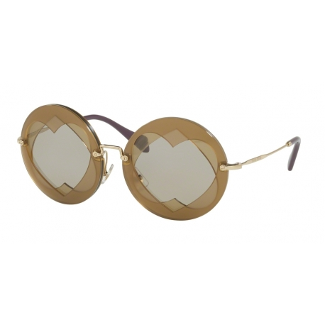 Miu Miu MU 01SS VA25J2 | Frame: hazel, yellow | Lens: light brown