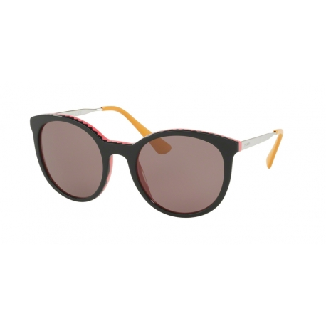 Prada PR 17SSF Cinema VH66X1 | Frame: black, pink | Lenses: purple brown