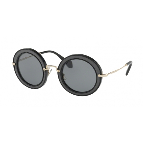 Miu Miu MU 08RS VIE9K1 | Frame: black | Lenses: grey