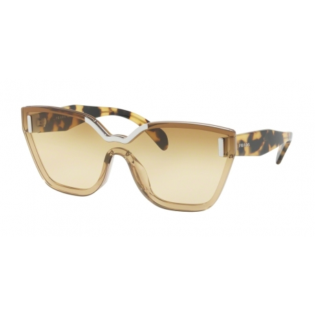 Prada PR 16TS VIR1G0 | Frame: beige | Lenses: light yellow gradient ochre