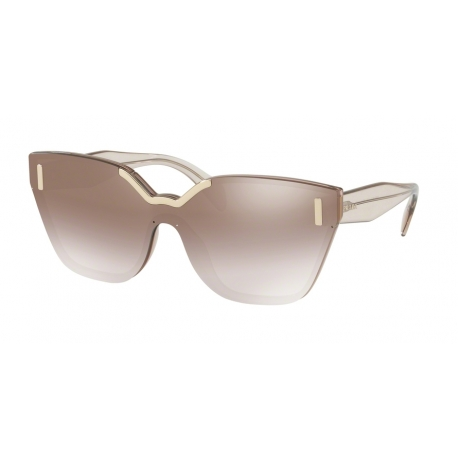 Prada PR 16TS VIT4O0 | Frame: light brown | Lenses: gradient brown silver mirror