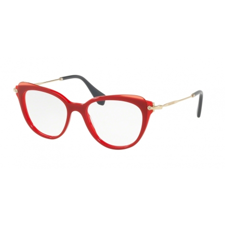 Miu Miu MU 01QV VX91O1 | Frame: red, top transparent red