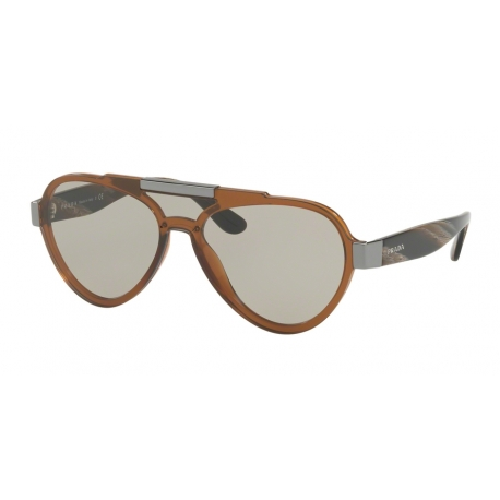 Prada PR 01US VY55J2 | Frame: brown | Lenses: light brown