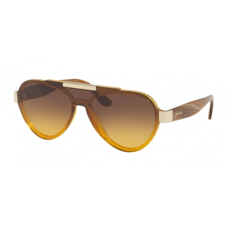 Prada PR 01US VY60D4 | Frame: yellow | Lenses: yellow gradient brown