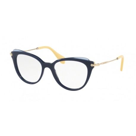Miu Miu MU 01QV VYA1O1 | Frame: blue, top transparent blue