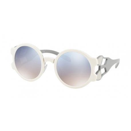 Prada PR 13US YEB5R0 | Frame: ivory | Lenses: gradient light blue silver mirror
