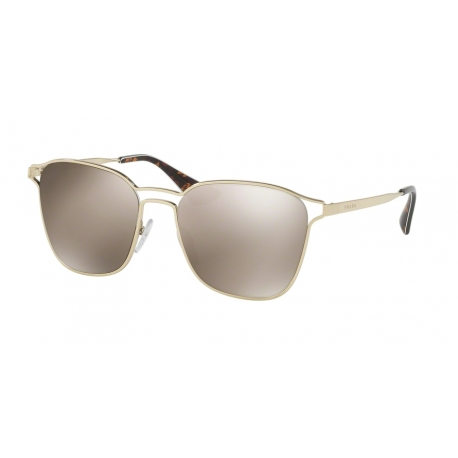 Prada PR 54TS ZVN1C0 | Frame: pale gold | Lenses: light brown gold mirror