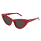 Saint Laurent SL 213 LILY 004 | Frame: red | Lenses: grey